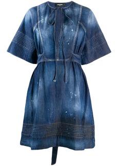 Dsquared2 denim georgette dress