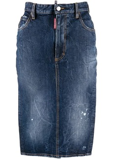 Dsquared2 denim pencil skirt