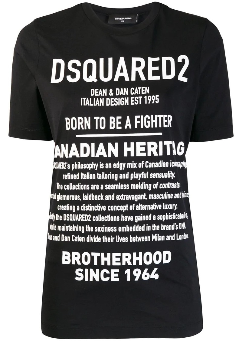 Dsquared2 Description print T-shirt