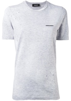Dsquared2 distressed chest logo t-shirt