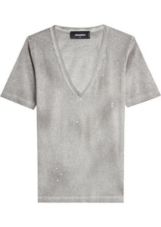 Dsquared2 Distressed Cotton T-Shirt