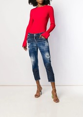 Dsquared2 distressed cropped faded jeans