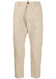 Dsquared2 distressed cropped trousers