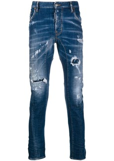 Dsquared2 distressed denim jeans