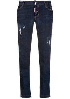 Dsquared2 distressed effect cropped jeans