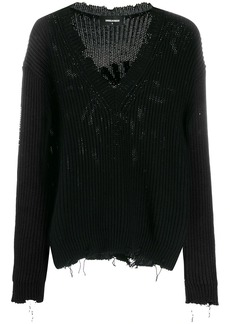 Dsquared2 distressed effect jumper