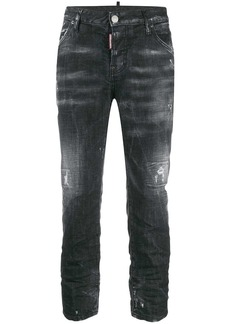 Dsquared2 distressed effect mid rise jeans