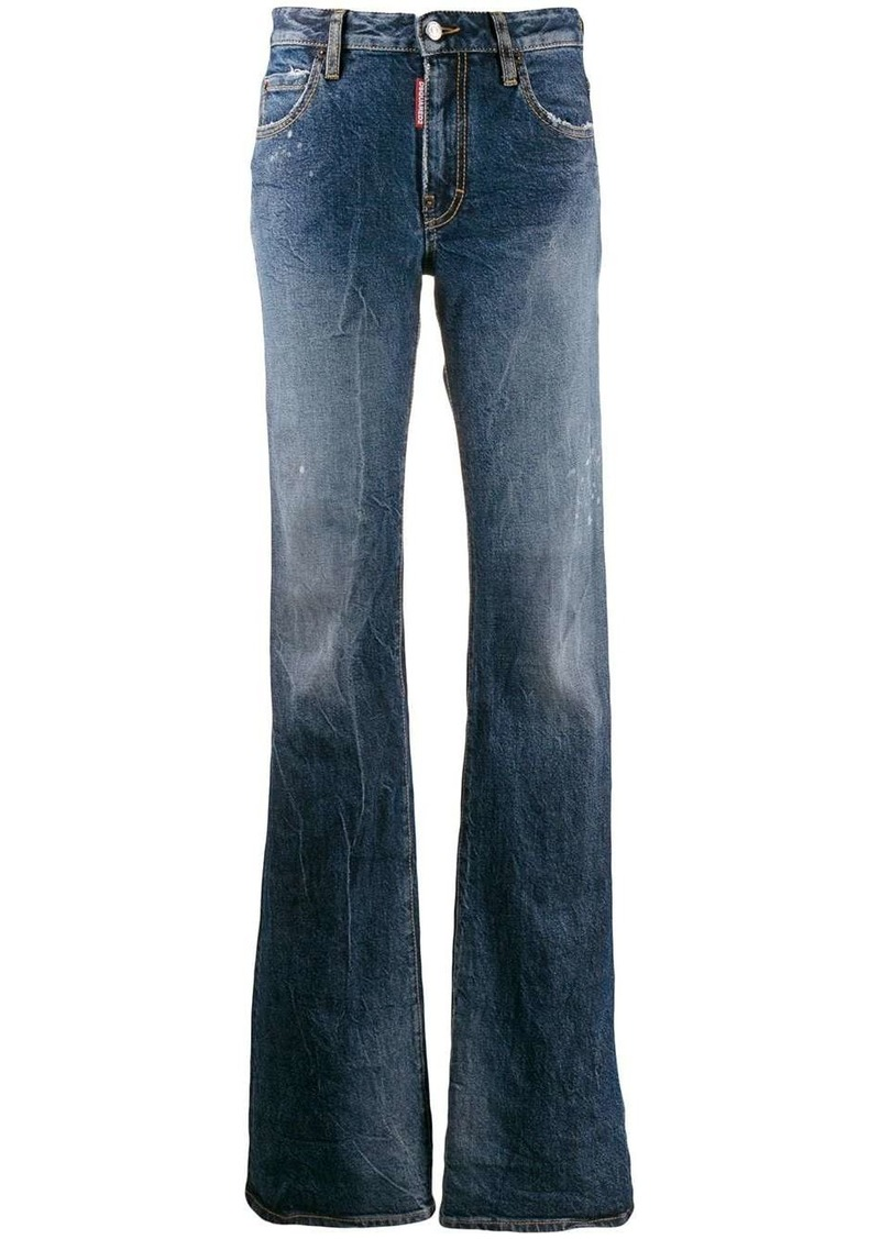 Dsquared2 distressed faded flared jeans