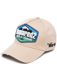 Dsquared2 distressed logo-patch baseball cap