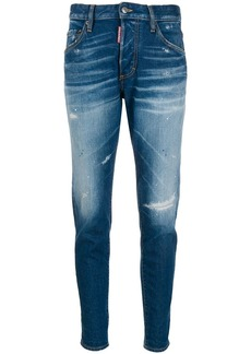 Dsquared2 distressed mid rise jeans