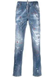 Dsquared2 distressed paint-splatter jeans