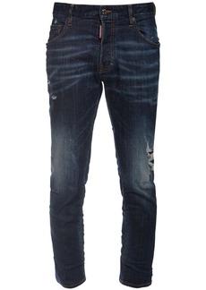 Dsquared2 Distressed Skater Cotton Denim Jeans
