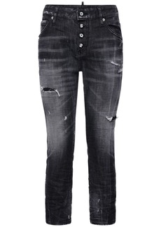 Dsquared2 Cool Girl Cropped Distressed Denim Jeans