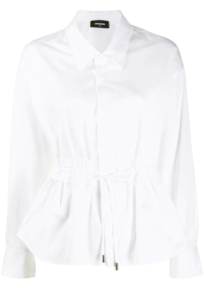 Dsquared2 drawstring waist shirt