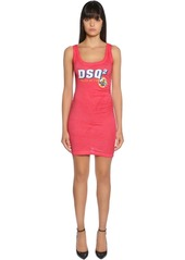 Dsquared2 Dsq2 Cotton Jersey Sleeveless Dress