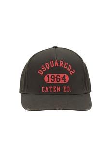 Dsquared2 Dsq2 Print Cotton Canvas Baseball Hat
