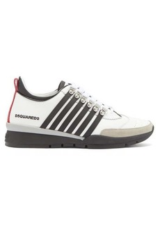 Dsquared2 251 striped leather trainers