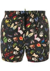 Dsquared2 all-over print swim shorts