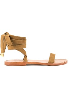 Dsquared2 ankle tie sandals - Brown