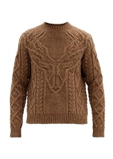 Dsquared2 Antler cable-knit wool sweater