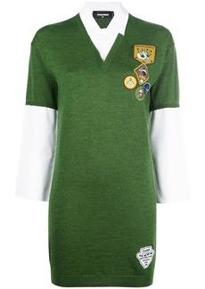 Dsquared2 appliqué patch shirt-dress - Green