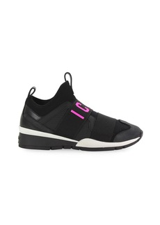 Dsquared2 Black Fuchsia Neoprene Icon Sneaker