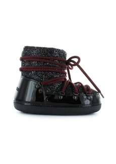 Dsquared2 Black Glitter Patent Leather Snow Boots