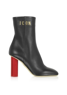 Dsquared2 Black Leather Plexy High-heel Boots