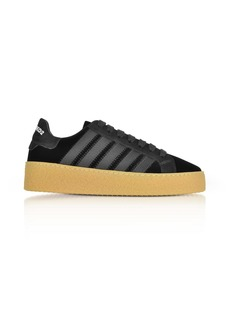 Dsquared2 Black Velvet And Satin Womens Sneakers