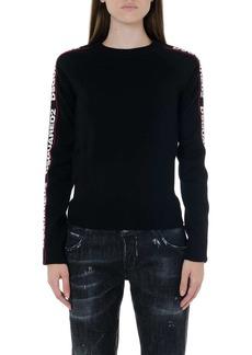 Dsquared2 Black Wool Logo Banded Shirt
