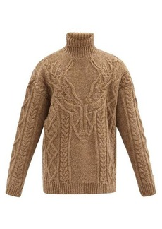 Dsquared2 Cable-knitted roll-neck wool sweater