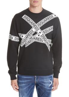 Dsquared2 Caution Logo Print Sweatshirt