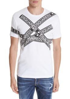 Dsquared2 Caution Logo Print T-Shirt