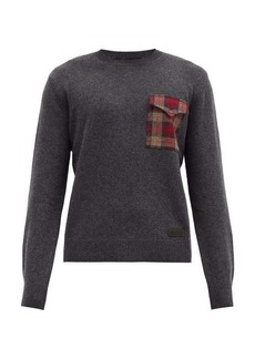 Dsquared2 Checked-pocket wool sweater