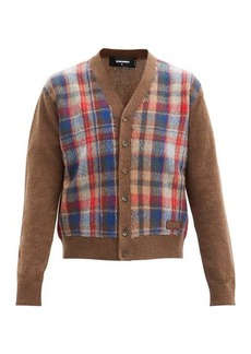 Dsquared2 Checked wool cardigan