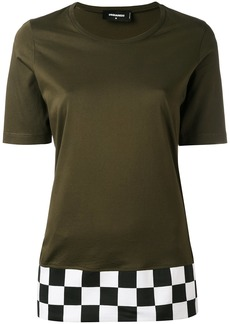 Dsquared2 checkered hem T-shirt - Green
