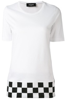 Dsquared2 checkered hem T-shirt - White
