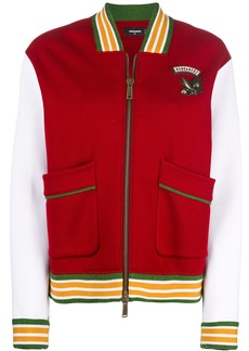 Dsquared2 colour-block bomber jacket