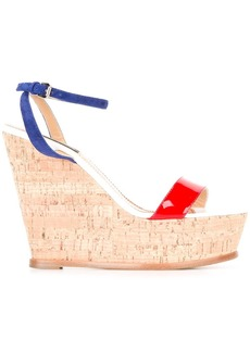 Dsquared2 crisscross strap wedge sandals - Multicolour