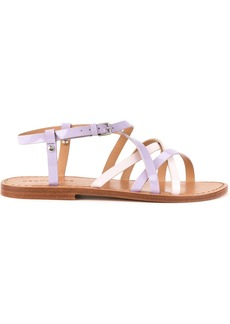 Dsquared2 cross strap sandals - Pink & Purple