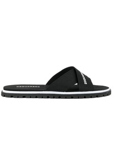 Dsquared2 cross strap sliders
