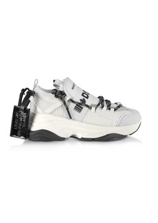 Dsquared2 D-bumpy Neoprene And Leather Womens Sneakers