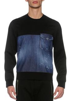 Dsquared2 Denim & French Terry Sweatshirt