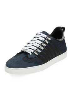 Dsquared2 Men's Denim-Panel Low-Top Sneakers