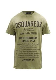 Dsquared2 Distressed logo-print cotton-jersey T-shirt