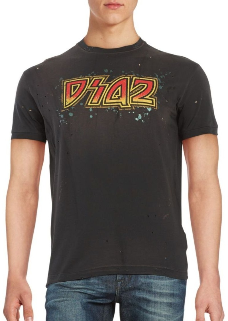 DSQUARED2 Distressed Logo Tee
