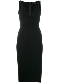 Dsquared2 fitted plunge dress
