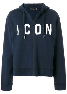 Dsquared2 Icon embroidered hoodie - Blue