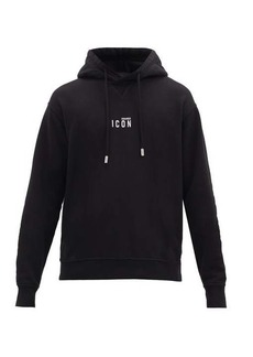 Dsquared2 Icon logo-print cotton-jersey hooded sweatshirt