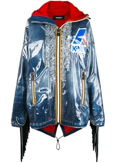 Dsquared2 K-Way oversized rain jacket - Blue